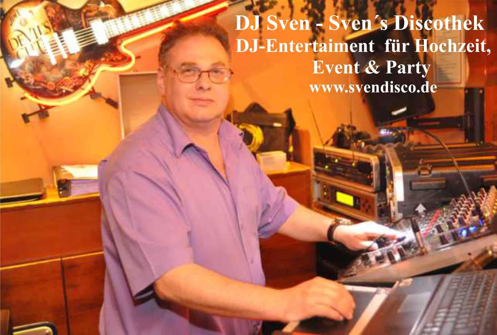 DJ Sven – Sven´s Discothek für Hochzeit, Geburtstag & Party in MV
